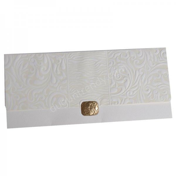 kabartmalı zarf detaylı davetiye modeli