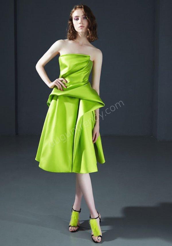 saten kumaş elbise modeli