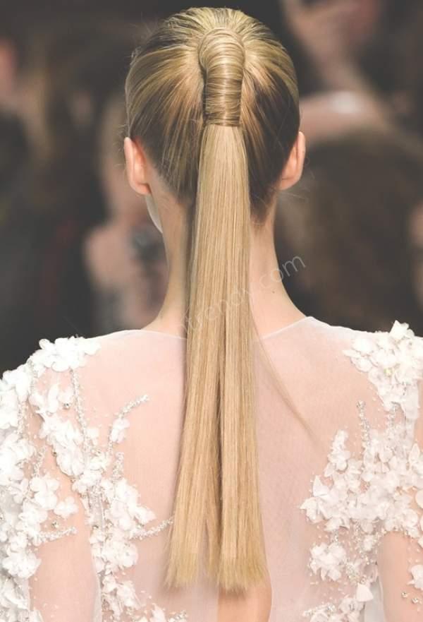 Şık nişan saçı modeli