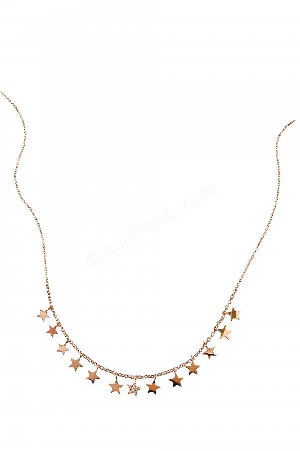 minik yıldızlı kolye modeli