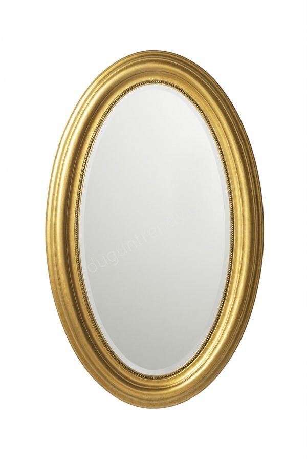 gold çerçeveli oval ayna modeli