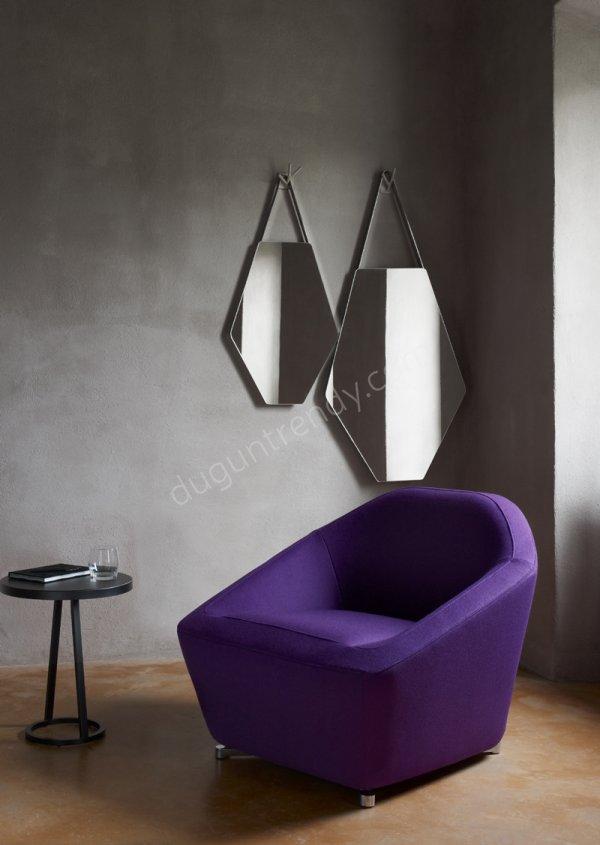 geometrik şekilli duvar aynası modeli