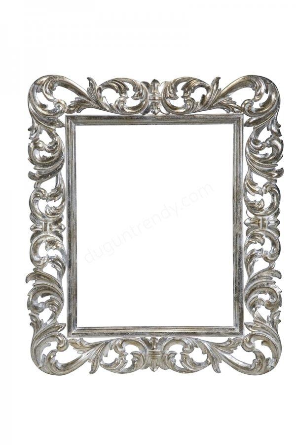 gümüş tasarımlı ayna modeli
