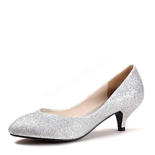 ışıltılı gelin ayakkabı modeli