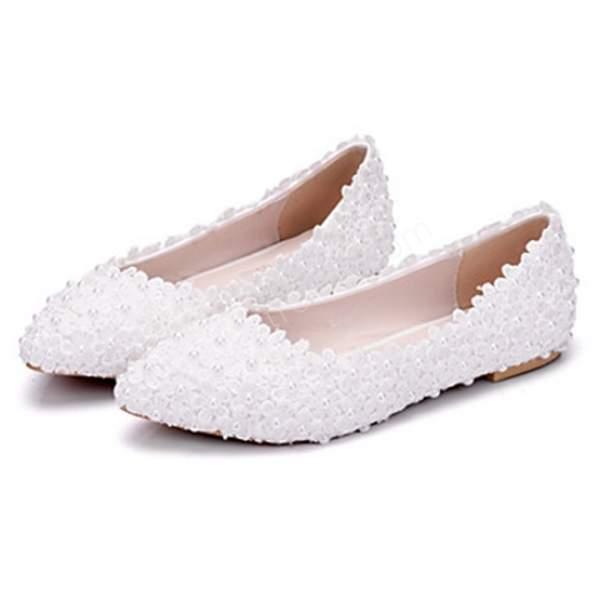 çiçekli babet gelin ayakkabısı