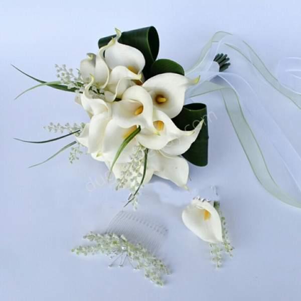 Gala Çiçeği Gelin Buketi