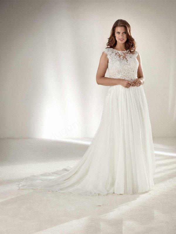 148538bde5681 Büyük Beden Gelinlik Modelleri - Düğün Trendy