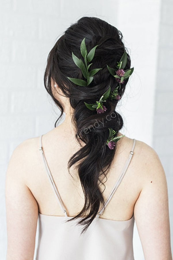 yaprak detaylı saç modelleri
