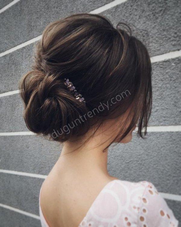 salaş gelin saçı modeli