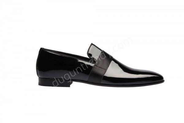 bant detaylı damat ayakkabısı modeli