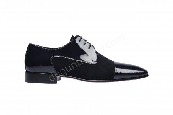 rugan ve süet detaylı erkek ayakkabısı modeli
