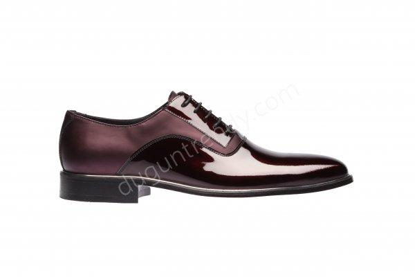 rugan ve saten detaylı damat ayakkabısı modeli