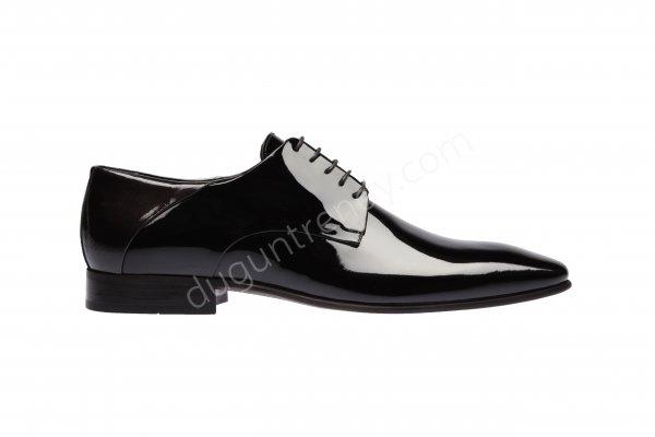parlak deri damat ayakkabısı modeli