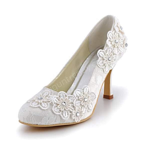 Dantel Gelin Ayakkabısı Modeli