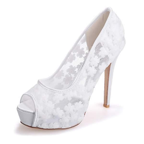 Platform gelin ayakkabısı modeli