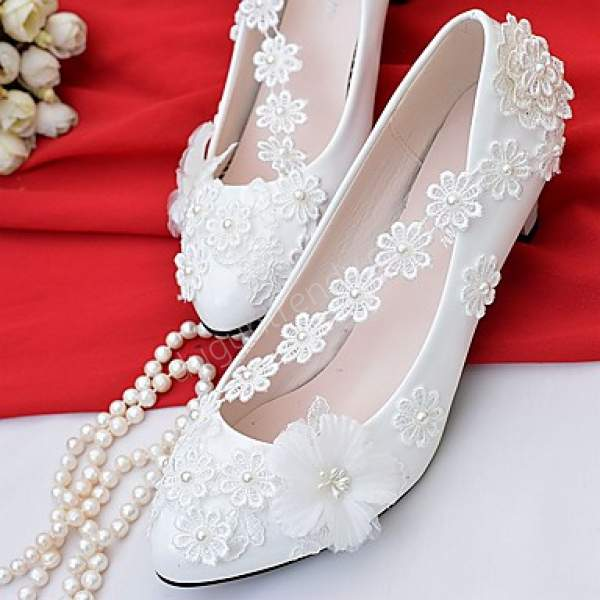 çiçek motifli gelin ayakkabısı