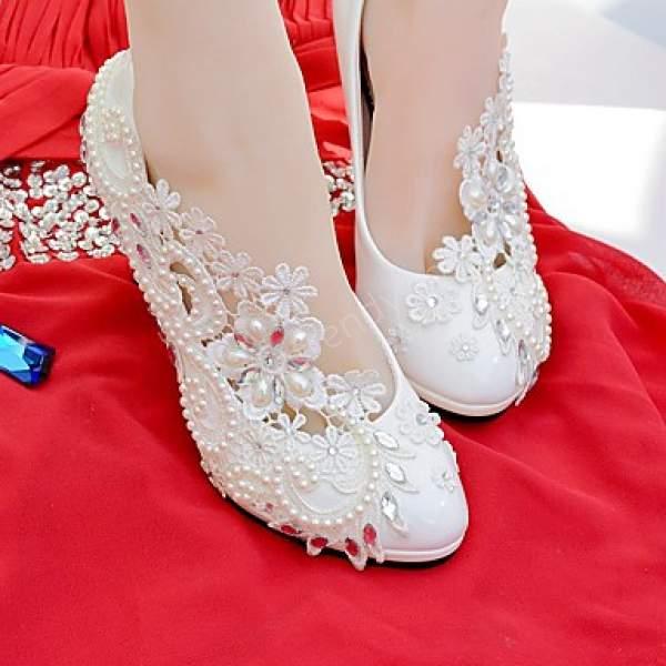 beyaz gelin ayakkabısı modeli