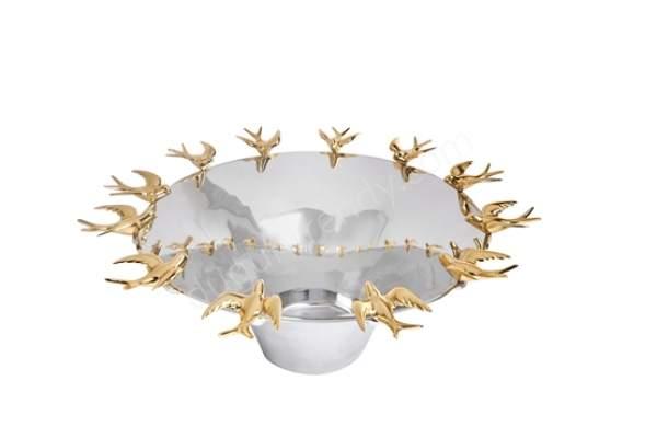 kuş figürlü dekoratif kase modeli