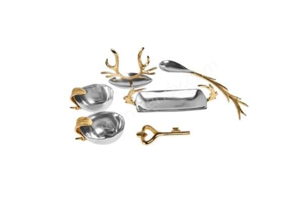 gümüş ve altın renkli servis takımı modelleri