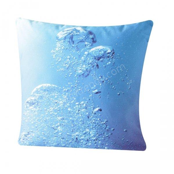 su baloncukları desenli dekoratif yastık modeli