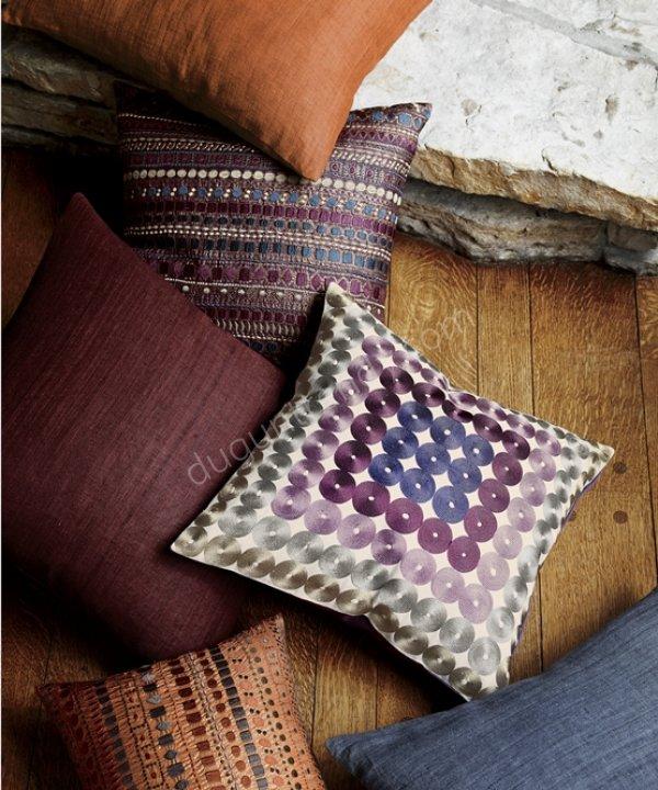 kızılderili kumaş desenli dekoratif yastık modeli