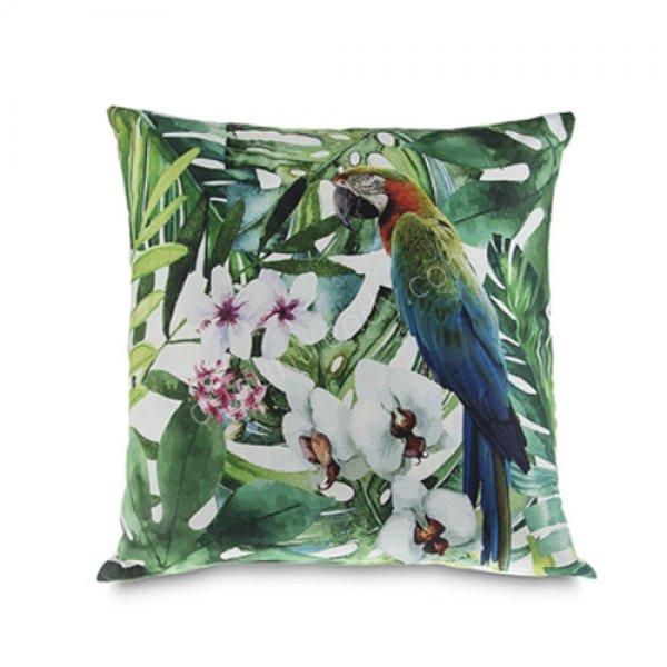 papağan desenli dekoratif yastık modeli