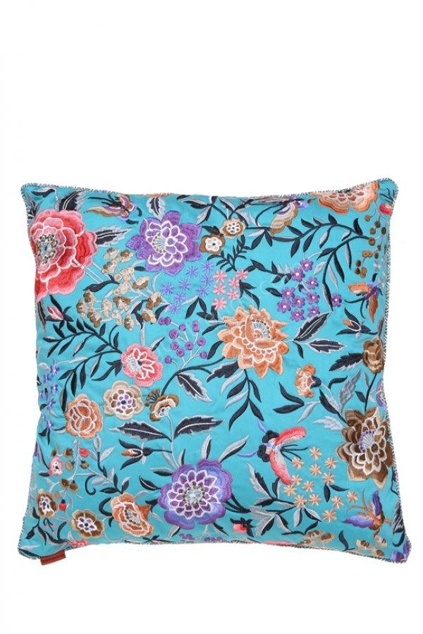 rengarenk çiçek desenli dekoratif yastık modeli