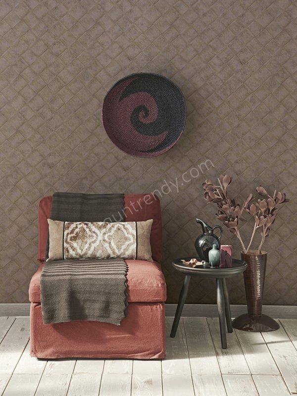 kahve tonlarında duvar kağıdı modeli