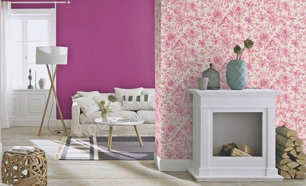 çiçek motifli duvar kağıdı modeli