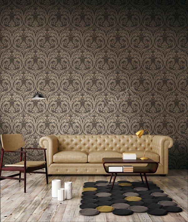 osmanlı motifli duvar kağıdı modeli
