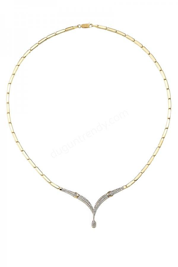 zincir tasarımlı kolye modeli