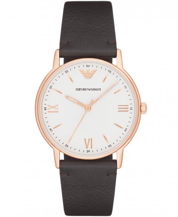 ince deri kayış erkek kol saati modeli