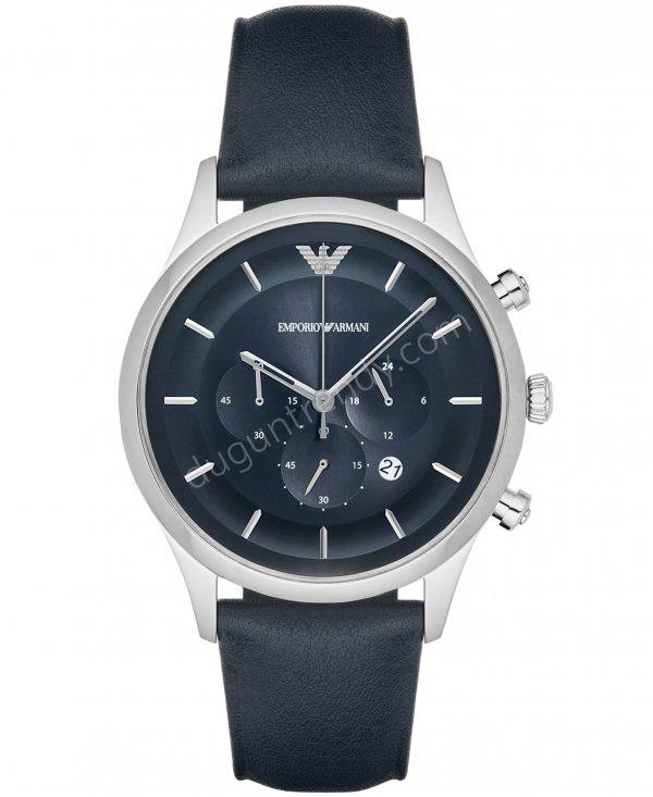 deri kayış çukur göstergeli erkek kol saati modeli