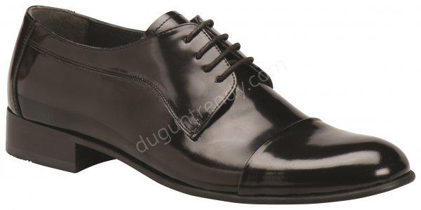 hafif parlak deri erkek ayakkabısı modeli