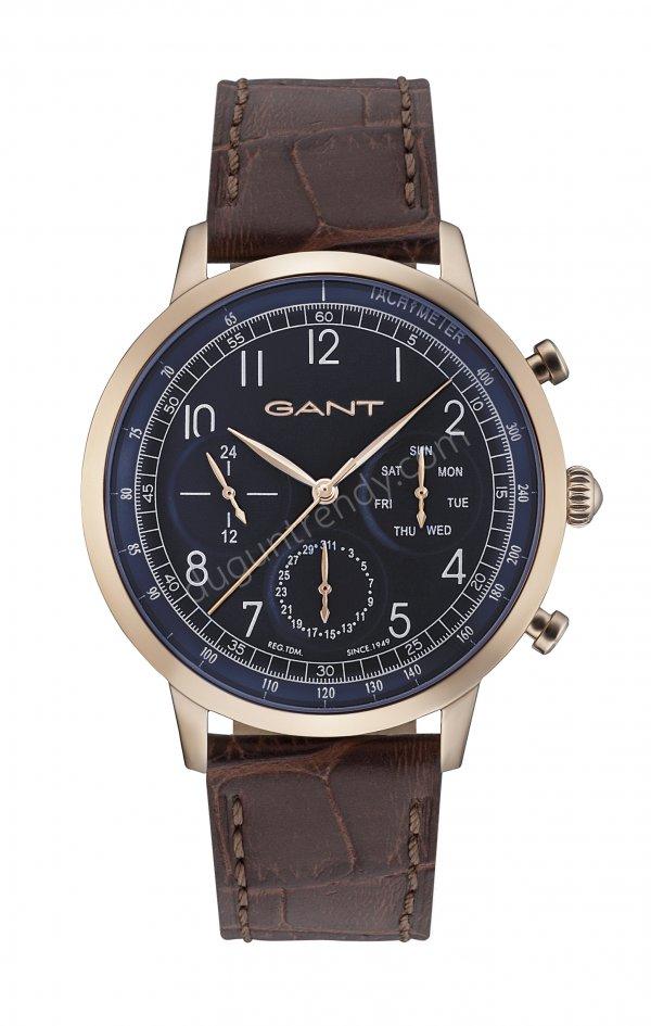 paslanmaz çelik kasa ve deri kayışlı kol saati modeli