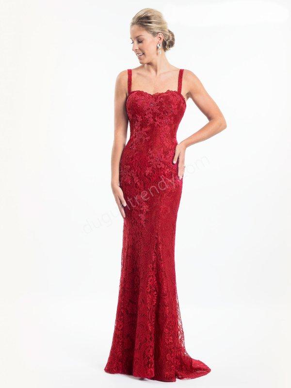 askılı dantel  elbise modeli