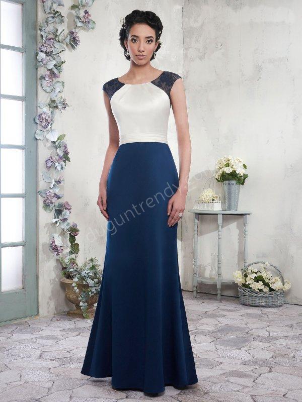 iki renkli sade  elbise modeli