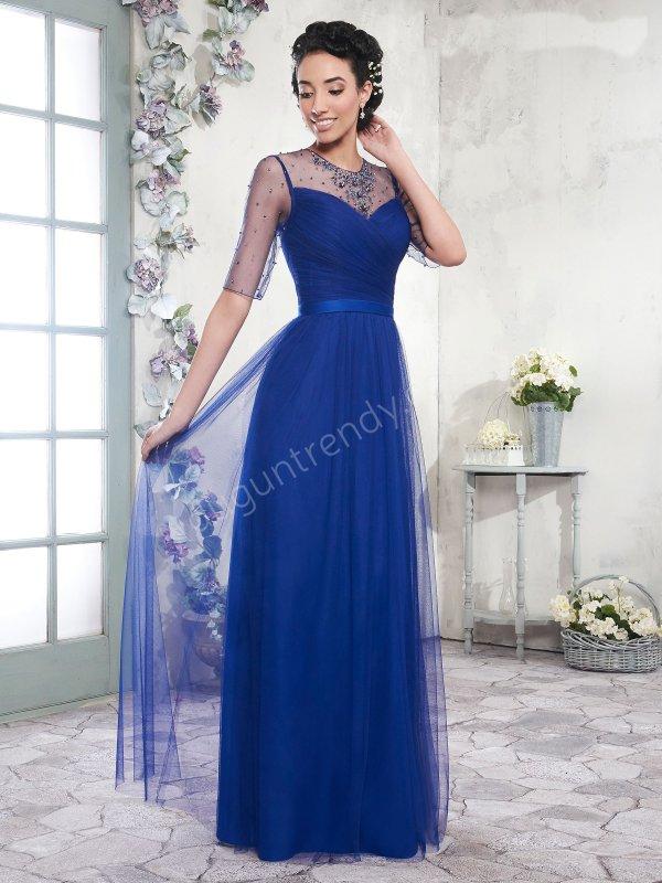 tül detaylı  elbise modeli