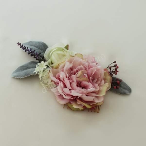 el yapımı çiçekli toka
