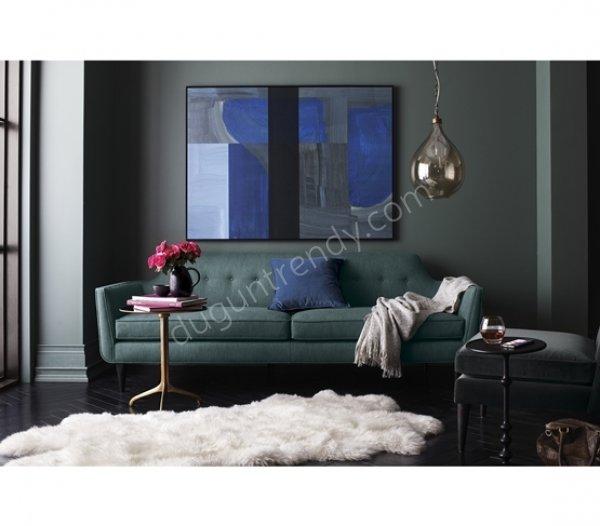 mat kumaşlı kanepe modeli