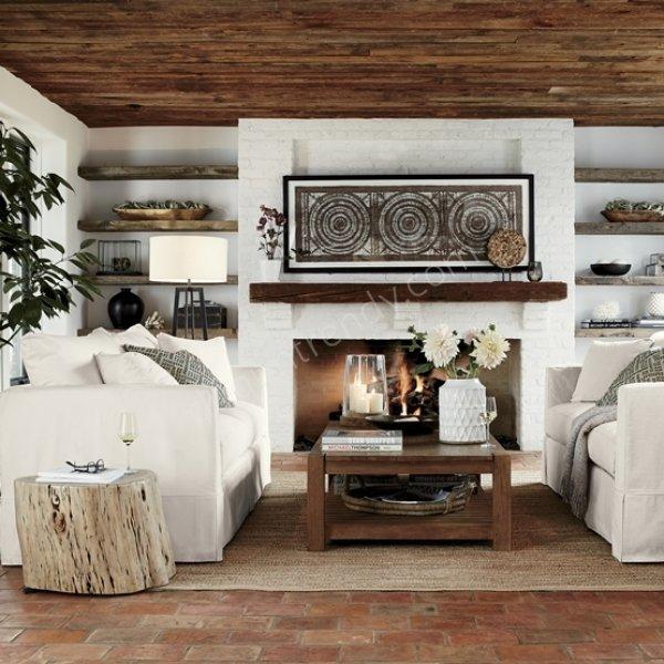 sade beyaz kanepe modelleri