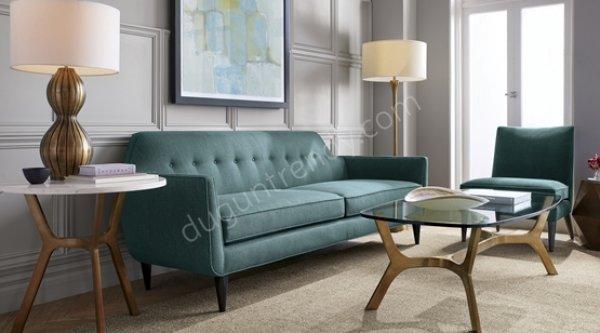 ahşap detaylı kanepe modeli