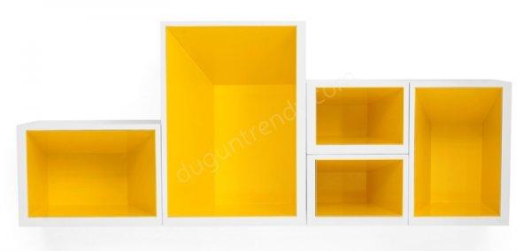 geometrik şekilli kitaplık modeli
