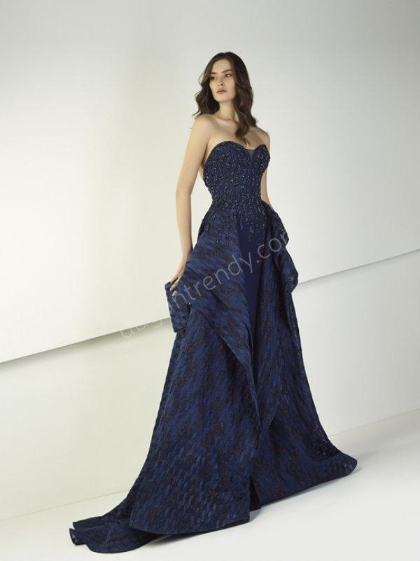 Mavi Abiye Modelleri