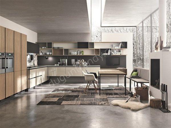 klasik tasarımlı mutfak dolabı modeli