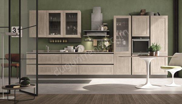 açık renk mutfak dolabı modeli