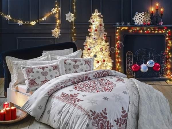 simli nevresim takımı ve yatak örtüsü modeli