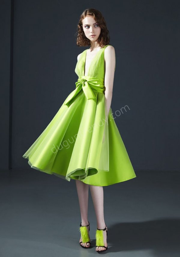 yeşil elbise modeli