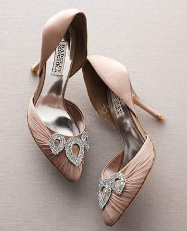 Açık Stiletto Tarzı Gelin Ayakkabısı