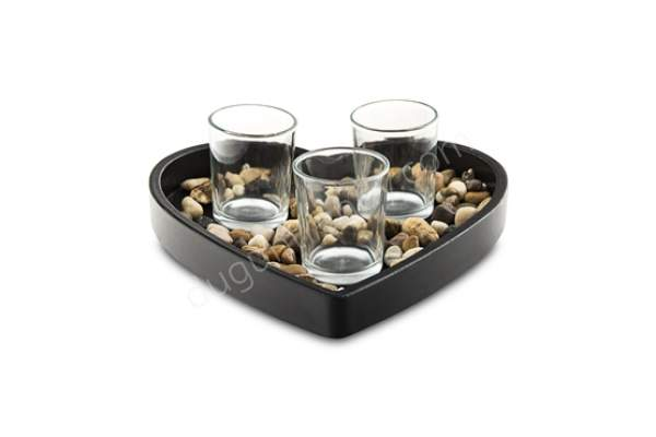 dekoratif taş detaylı cam mumluk modeli